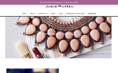 Screenshot of Home Page josiechenrange.com - Home - Josie Chen Range - captured June 8, 2017