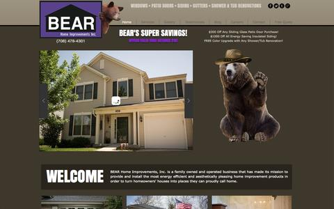 Screenshot of Home Page bear-home.net - Bear Home Improvements - captured Oct. 5, 2014