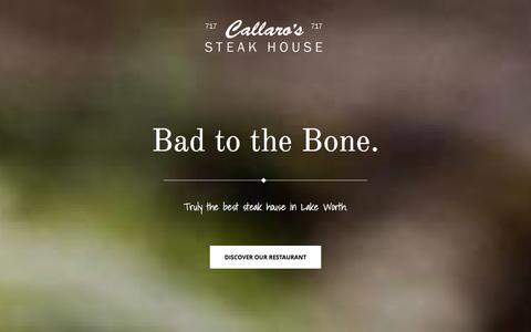 Screenshot of Home Page ua6.org - Callaro's Steak House   TRULY THE BEST STEAK HOUSE IN LAKE WORTH - captured Jan. 30, 2016