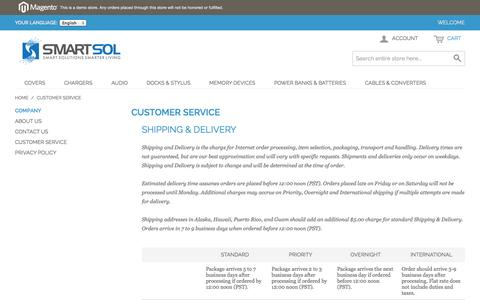 Screenshot of Privacy Page Support Page smartsol.pk - Customer Service - captured Oct. 26, 2014