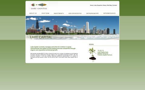 Screenshot of Home Page lakecapital.com - Lake Capital | Home - captured Sept. 27, 2014