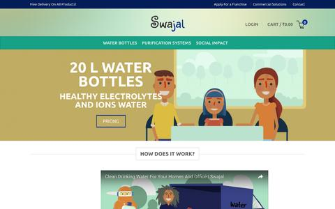 Screenshot of About Page swajal.in - How It Works • Swajal - captured Aug. 15, 2016