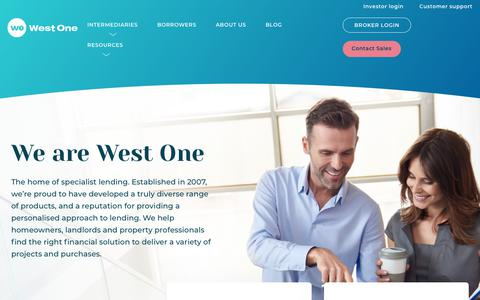 Screenshot of About Page westoneloans.co.uk - About - West One Loans - captured Aug. 23, 2019