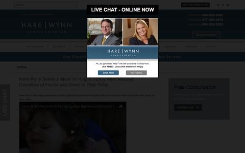 Screenshot of Press Page hwnn.com - Media | Hare Wynn Newell & Newton - captured Oct. 26, 2016