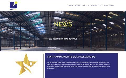 Screenshot of Press Page mcs-ltd.com - News   MCS Group - captured Sept. 30, 2018