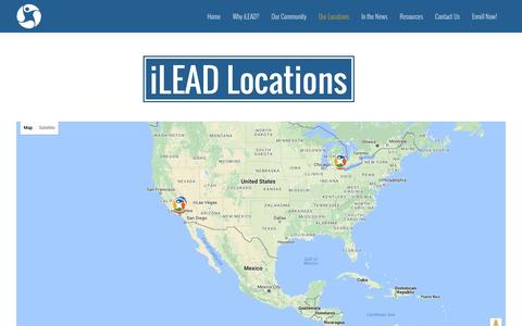 Screenshot of Locations Page ileadschools.org - iLEAD Locations | iLEAD Schools - captured Aug. 6, 2016