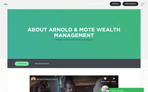 Screenshot of About Page arnoldmotewealthmanagement.com - About Arnold & Mote Wealth Management - Arnold Mote Wealth Management - captured Nov. 15, 2018
