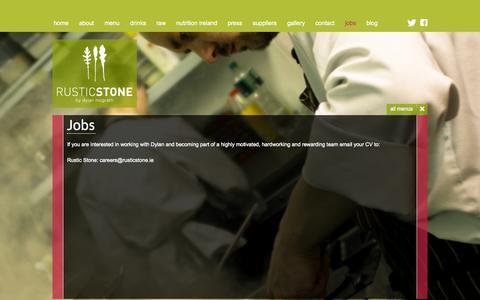 Screenshot of Jobs Page rusticstone.ie - Restaurant Jobs Dublin, Chef Jobs Dublin, Rustic Stone Restaurant Jobs - captured Oct. 9, 2014