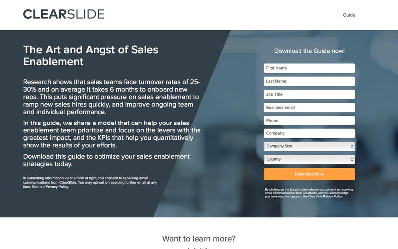The Art and Angst of Sales Enablement