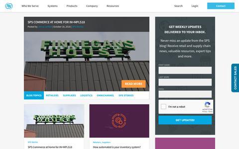 Screenshot of Blog spscommerce.com - Blog   SPS Commerce - captured Oct. 24, 2018