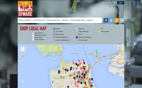 Screenshot of Maps & Directions Page sfmade.org - Map | SFMade - captured Sept. 23, 2014