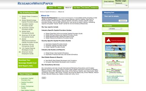 Screenshot of About Page researchwhitepaper.com - About Us : Research Whitepaper - captured Oct. 6, 2014