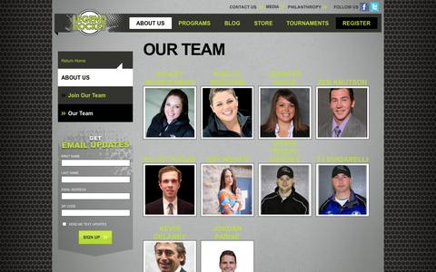 Screenshot of Team Page legendsi.com - Our Team | About Legend Hockey | Legend Hockey Camps - captured Nov. 1, 2014