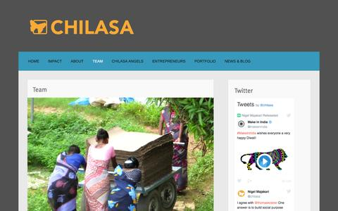 Screenshot of Team Page chilasa.org - Team - captured Nov. 5, 2016
