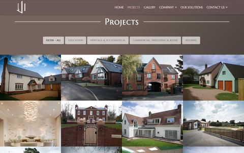 Screenshot of Case Studies Page broadstaff.co.uk - Projects - Broadstaff Construction - captured Nov. 13, 2018