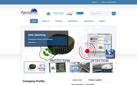 Screenshot of Home Page forsbergservices.co.uk - Forsberg Services - captured Oct. 6, 2014