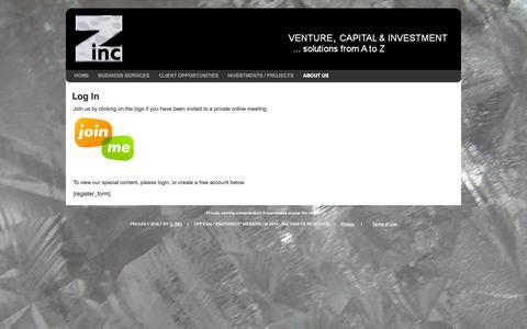 Screenshot of Login Page zincdirect.com - Log In - Zinc DirectLog In - Zinc Direct - captured Oct. 7, 2014