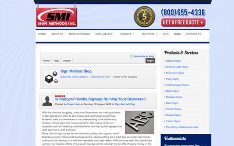 Screenshot of Blog signmethods.com - Sign Method Blog - Sign Method Blog - captured Oct. 7, 2014