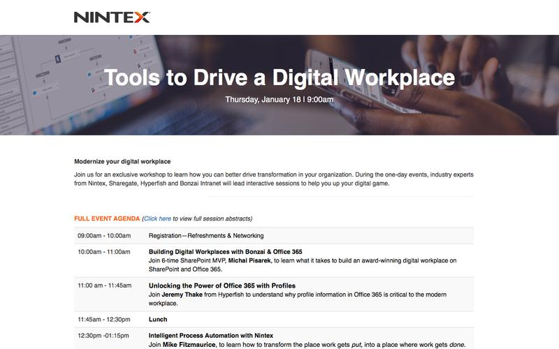 Tools to Drive a Digital Workplace