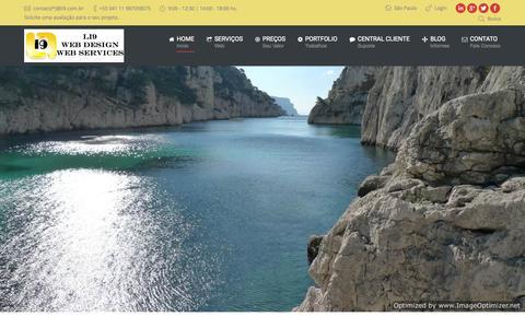 Screenshot of Home Page li9.com.br - Li9   Web Design   Web Services   Ecommerce - captured Sept. 27, 2015