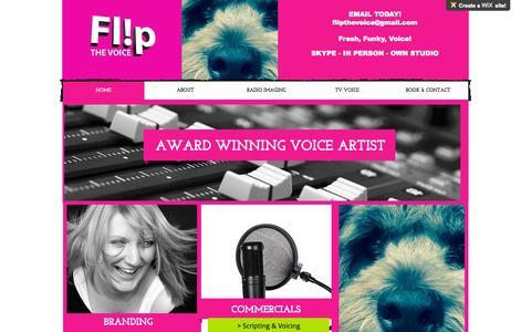 Screenshot of wix.com - Flip the Voice - captured Oct. 10, 2015