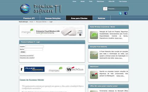 Screenshot of Login Page premiumsti.com.br - Premium Software TI - Login - captured Oct. 1, 2014
