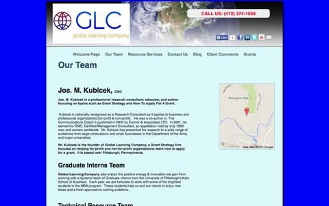 Screenshot of About Page glc3d.com - Grant Research & Strategy » Our Team - captured Oct. 2, 2014