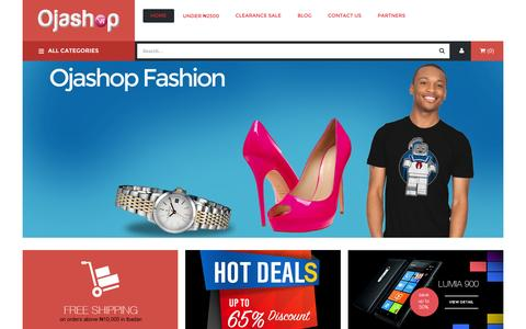 Screenshot of Home Page ojashop.com - Online Shopping | Electronics, Fashion | Ojashop Nigeria - captured Sept. 19, 2014