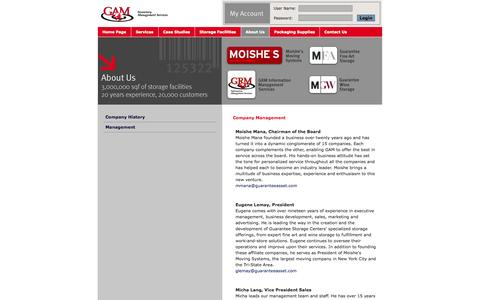 Screenshot of Team Page moishesguarantee.com - gam guarantee asset management experienced in inventory management - captured Oct. 3, 2014