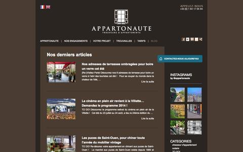 Screenshot of Blog appartonaute.com - BLOG Archives » Appartonaute Paris - captured Sept. 30, 2014