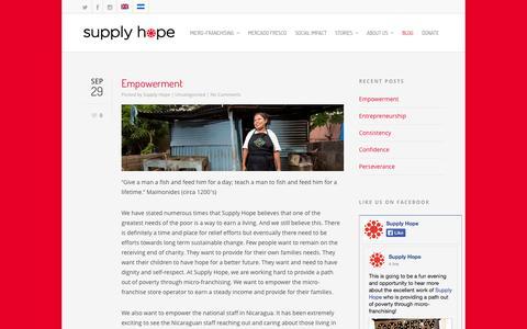 Screenshot of Blog supplyhope.org - Blog    Supply Hope - captured Sept. 30, 2014
