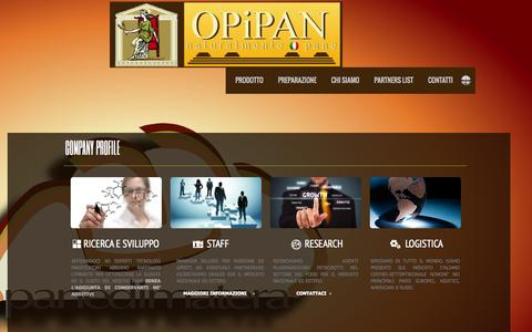 Screenshot of About Page opipan.com - OPiPAN, naturalmente pane About us - captured Oct. 9, 2014