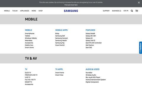 Screenshot of Site Map Page samsung.com - sitemap | Samsung CA - captured Nov. 1, 2017
