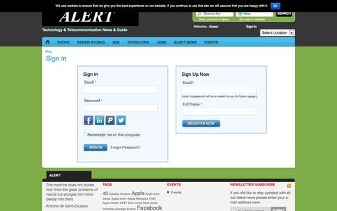 Screenshot of Login Page alert-komunikacije.com - Site Registration and Login Form|AlertTechnology & Telecommunication News & Guide|Alert - captured Dec. 5, 2015