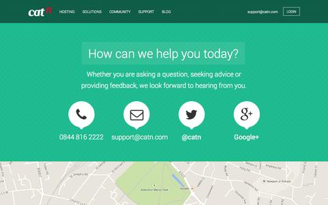 Screenshot of Contact Page catn.com - Contact Us | Our expert support team awaits your instruction - captured Oct. 28, 2014