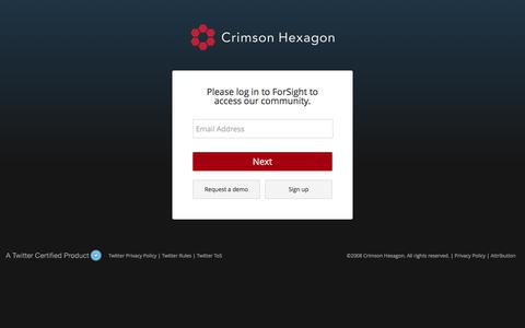 Screenshot of Support Page crimsonhexagon.com - Crimson Hexagon :: Login - captured March 6, 2018