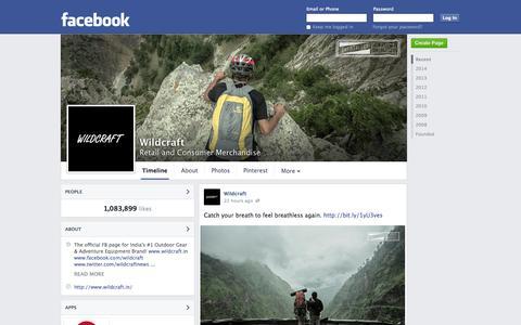 Screenshot of Facebook Page facebook.com - Wildcraft | Facebook - captured Oct. 22, 2014