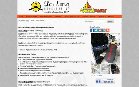 Screenshot of Team Page lanuova.co.nz - La Nuova - Our Laundry & Dry Cleaning Professionals - La Nuova - captured Oct. 2, 2014