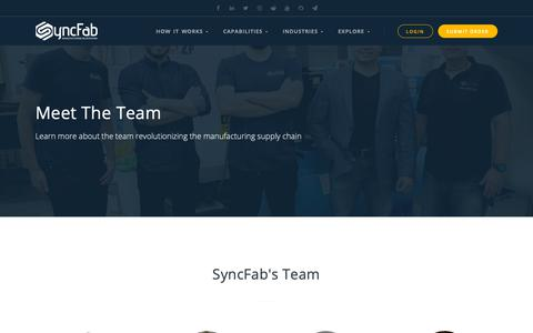 Screenshot of Team Page syncfab.com - Team - captured Nov. 17, 2018