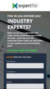 New Landing Page ExpertFile (www.expertfile.com)