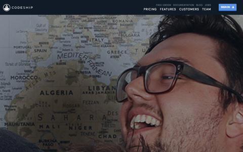 Screenshot of Team Page codeship.io - Team | Codeship - captured Nov. 5, 2014
