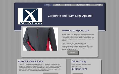 Screenshot of Home Page xsportsusa.com - XSports USA - captured Oct. 5, 2017