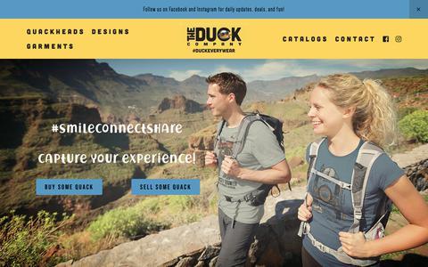 Screenshot of Home Page duckco.com - The Duck Company - captured Nov. 15, 2018