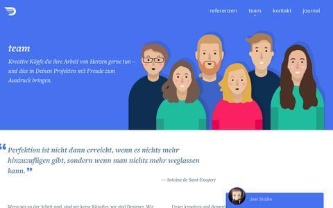 Screenshot of Team Page duotones.ch - Deine User Experience Spezialisten • Ein Team von Interaction Designer • Duotones - captured June 5, 2017