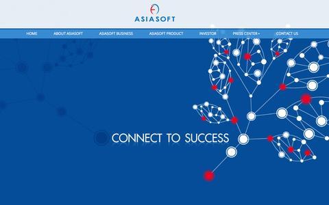 Screenshot of Home Page asiasoft.net - Home - Asiasoft Corporation - captured Sept. 6, 2015