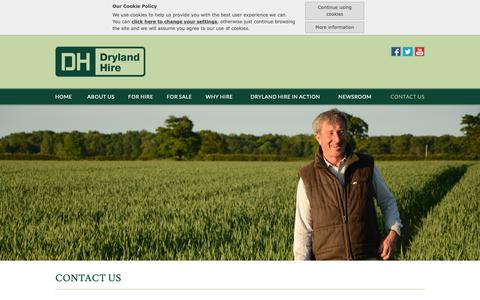 Screenshot of Contact Page drylandhire.com - Dryland Hire :: Contact Us :: Tractor, Trailer and Agricultural machinery specialists - captured Oct. 9, 2018