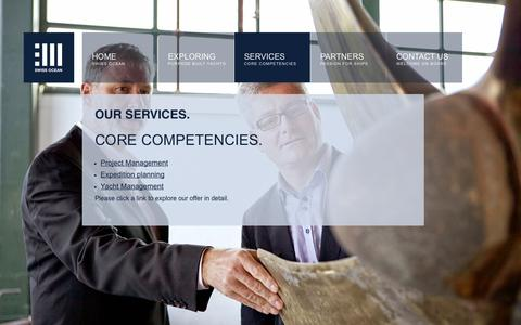 Screenshot of Services Page swissoceanservices.com - SwissOceanServices :: SERVICES - captured Oct. 6, 2014