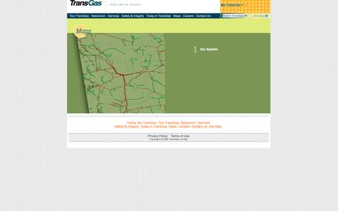 Screenshot of Maps & Directions Page transgas.com - Maps - captured Dec. 3, 2016