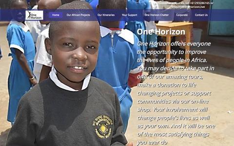 Screenshot of Home Page onehorizon.net - One Horizon - captured Sept. 1, 2015