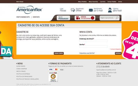 Screenshot of Login Page americanflex.com.br - Login de Cliente - captured Feb. 2, 2016